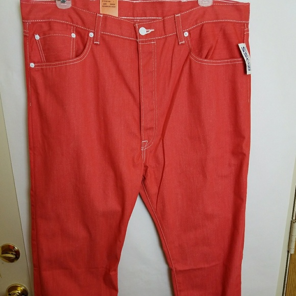 1940320e Levi's Jeans | Nwt Levis 501 Shrink To Fit Mens Orange | Poshmark